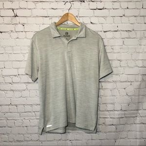 Free Country Heather Grey Micro-Tech Polo Shirt